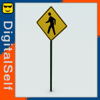 3ds max pedestrian crossing sign