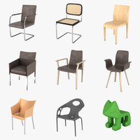 3d chairs thonet alias model