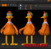 3ds character chicken run