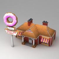 cafe donut 3d model