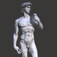 3d s david statue michelangelo
