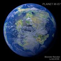 planet m-07 m 3d model
