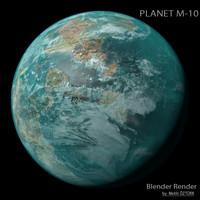3d planet m-10 m model