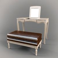 3d dressing table fendi casa model
