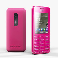 3d low-poly nokia 206 magenta