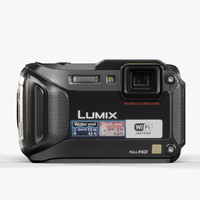 3d model panasonic lumix dmc-ts5 black