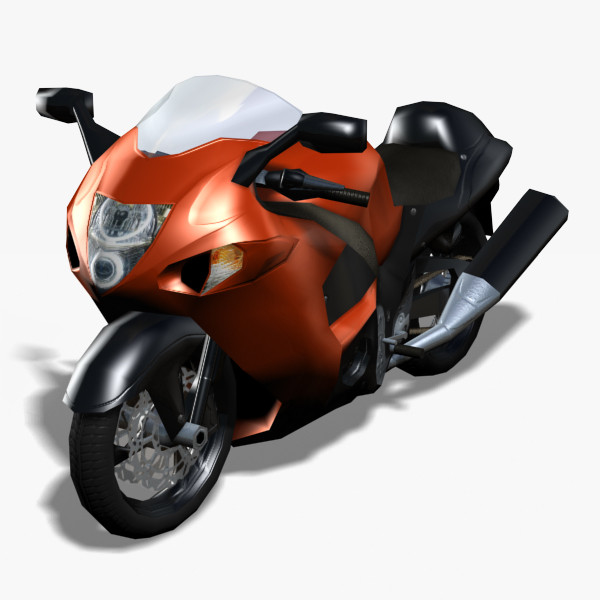 Hayabusa Motorcycle (Rigged)