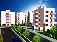 3d model of building 2 cityscape