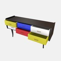 3ds max modern cabinet mondrian