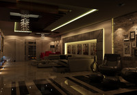 interior night 3d model