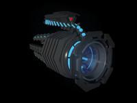 3d plasma gun model