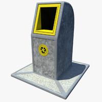 recycling bin plastic 3d max