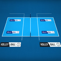 3d volleyball court model
