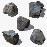pack stones 3d model