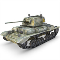 3d model a10 cruiser mk ii
