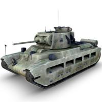 3d model a12 matilda ii tank
