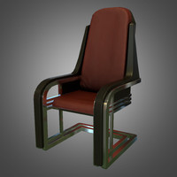 3d model ready deco desk chair