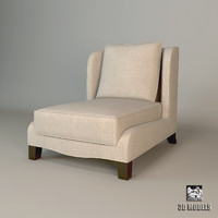 3d model baker dane slipper chair