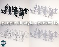 fbx silhouette people