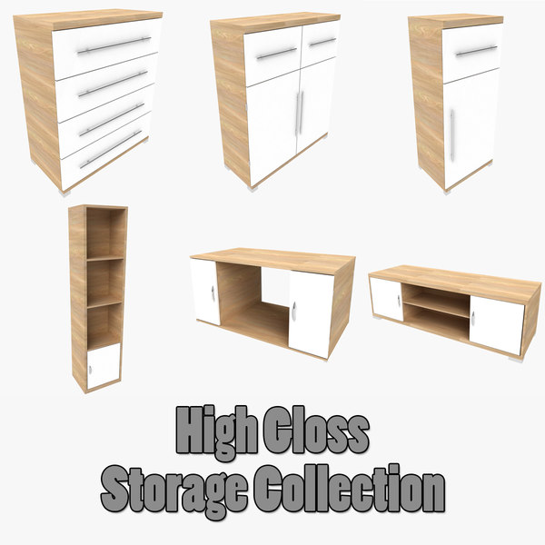 3d cupboard shelf coffee table model