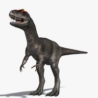 dinosaur allosaurus 3d model