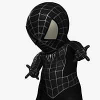 3d spider-baby black model