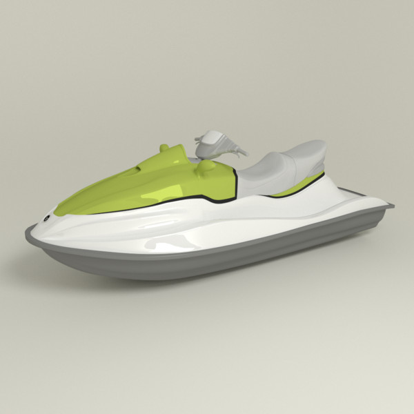 3d model of wave runner