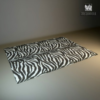 modern carpet zebra 3d model