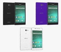 sony xperia m2 colors 3d model