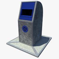 recycling bin paper 3d model