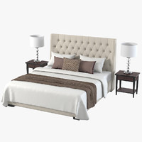 meridiani bedroom set 3d max