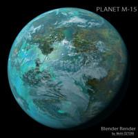 3d planet m-15 m