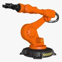 industrial robot modeled 3d x