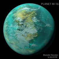 planet m-16 m 3d model