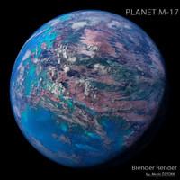 3d model planet m-17 m