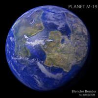 planet m-19 m 3d model