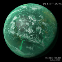 3d model of planet m-20 m