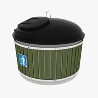 3d dumpster garbage model