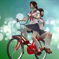posed 2 japanese girls 3d model