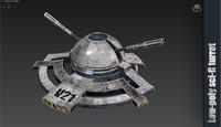 sci fi turret max