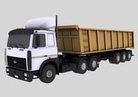 maz 6422 trailer 3d model