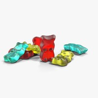 3d model haribo gold-bears