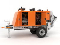 portable concrete pump cifa 3d obj