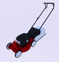 3d model of lawn mower