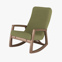 edvard danish design rocking chair 3d max