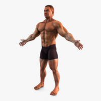 3d bodybuilder character man