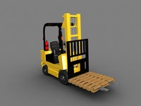 rigged forklift 3d model