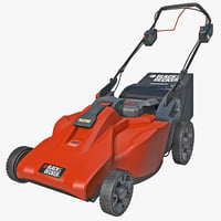 3d model lawn mower black decker