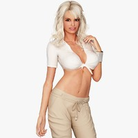 blonde woman character casual 3d model