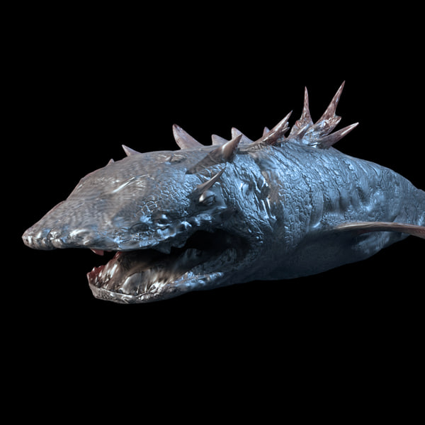 prehistoric fish 3d model